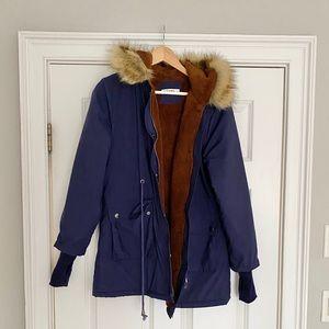 Jackets & Blazers - Size small navy winter coat - like new